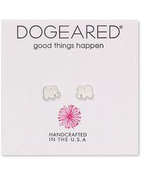 Dogeared | Elephant Stud Earrings | Lyst
