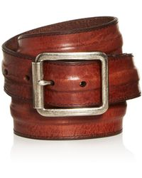 Frye - Men's Trapunto Leather Belt - Lyst