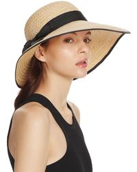 Aqua - Raffia Straw Sun Hat With Bow Trim - Lyst
