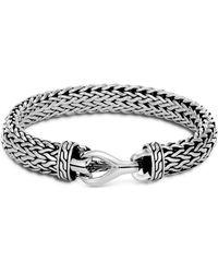 John Hardy - Sterling Silver Classic Chain Large Flat Bracelet - Lyst