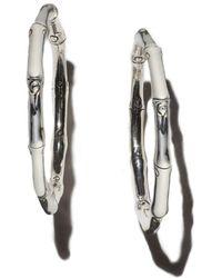 John Hardy - Bamboo Medium Hoop Earrings - Lyst
