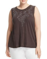 Lucky Brand - Tonal-embroidered Tank - Lyst