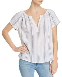 AG Jeans - Ariel Striped Top - Lyst