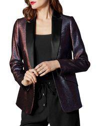 Karen Millen - Metallic Tailored Blazer - Lyst