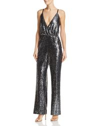 Laundry by Shelli Segal - Plunging Sequined Jumpsuit - Lyst