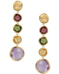 Marco Bicego - Jaipur 18k Yellow Gold And Multi - Stone Drop Earrings - Lyst