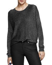 Reiss - Ada Metallic Sweater - Lyst