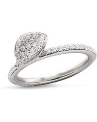 Pasquale Bruni | 18k White Gold Secret Garden Single Petal Pavé Diamond Ring | Lyst