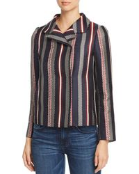 Paule Ka - Striped Jacquard Jacket - Lyst