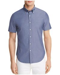 Bloomingdale's - Dotted Short Sleeve Button-down Shirt - Lyst