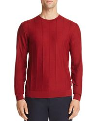Emporio Armani - Vertical Ribbed Sweater - Lyst