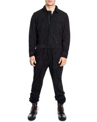 Sean John - Suede Coverall - Lyst