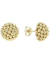 Lagos - Caviar Gold Collection 18k Gold Stud Earrings - Lyst