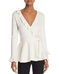 C/meo Collective - A Little More Ruffled Wrap Top - Lyst