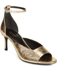 Via Spiga - Women's Jennie Metallic Kitten Heel Sandals - Lyst
