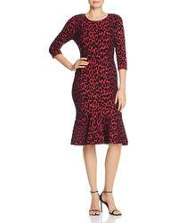 697c05ecfbb MILLY - Textured Leopard - Print Dress - Lyst