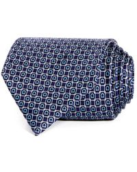 2ef42becd56f Ferragamo Elephant Paisley Classic Tie in Blue for Men - Lyst