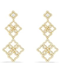 David Yurman | Venetian Quatrefoil Cluster Earrings With Diamonds In Gold | Lyst
