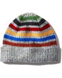 Paul Smith - Donegal Striped Beanie - Lyst