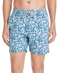 441a51cba9de1 Psycho Bunny - Triangle Swim Trunks - Lyst