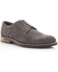 Ted Baker - Men's Lapiin Perforated Suede Plain Toe Oxfords - Lyst