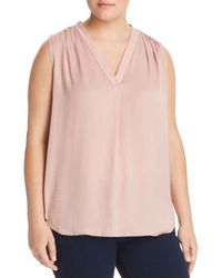 Vince Camuto Signature - Shirred Satin Top - Lyst