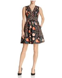 Kate Spade - Mixed Blossom Fit-and-flare Dress - Lyst