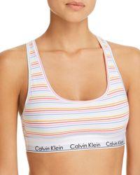 1a52f1890657c Calvin Klein Modern Cotton Bralette in Blue - Lyst