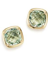 Bloomingdale's - Prasiolite Square Stud Earrings In 14k Yellow Gold - Lyst