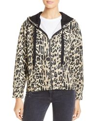 Kenneth Cole - Leopard Print Hoodie - Lyst