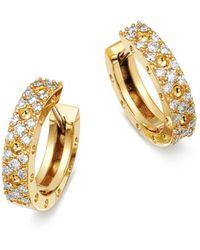 Roberto Coin - 18k Yellow Gold Symphony Pois Moi Diamond Earrings - Lyst