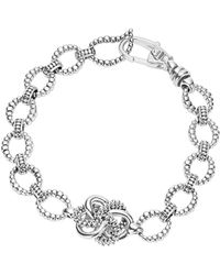 Lagos - Sterling Silver Love Knot Link Bracelet - Lyst