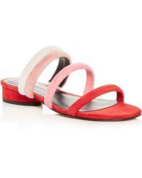 Rebecca Minkoff - Women's Kade Color-block Suede Slide Sandals - Lyst