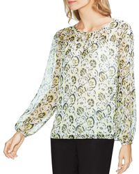 Vince Camuto - Ruched Floral Blouse - Lyst