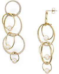 Nadri - Pavé Overlapping Earrings - Lyst