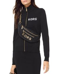 MICHAEL Michael Kors - Embroidered Stretch Track Jacket - Lyst