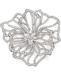 Nadri - Corsage Flower Pin - Lyst