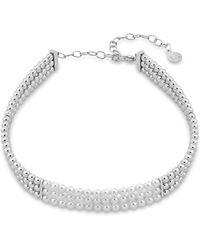 "Majorica - Majorca Simulated Pearl Choker Necklace, 12"" - Lyst"
