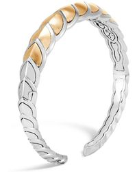 John Hardy - Sterling Silver & 18k Bonded Gold Legends Naga Small Brushed Flex Cuff - Lyst