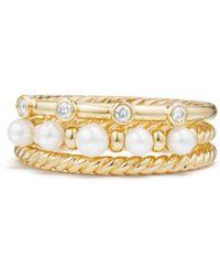 Lyst Sophie Bille Brahe Perle 14 Karat Gold Pearl Ring In Metallic