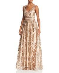 dc4fe7ef8d2b3 Betsy & Adam - Embellished Brocade Ball Gown - Lyst