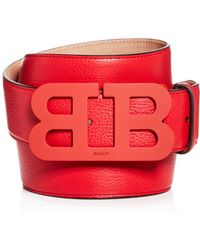 Bally - Tonal Matte Logo Buckle Reversible Leather Belt - Lyst