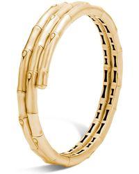 John Hardy - 18k Yellow Gold Bamboo Coil Bracelet - Lyst