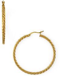 Argento Vivo - Braided Hoop Earrings - Lyst