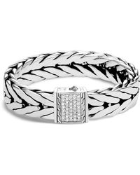 John Hardy - Men's Modern Chain Extra-large Sterling Silver Bracelet With Diamonds - Lyst