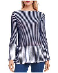 Foxcroft - Ribbed Peplum Sweater - Lyst