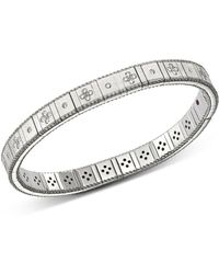 Roberto Coin - 18k White Gold Princess Diamond Bracelet - Lyst