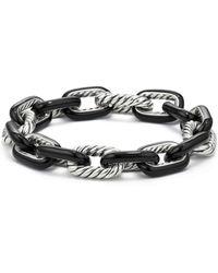 David Yurman - Madison Chain Enamel Large Bracelet In Black - Lyst