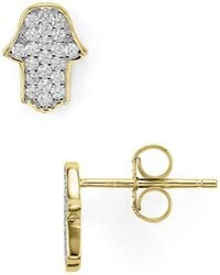 Aqua | Hamsa Stud Earrings | Lyst