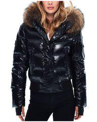 Sam. - Skyler Fur Trim Short Down Coat - Lyst